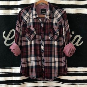 RAILS Flannel Plaid Button Up Shirt Long Sleeve